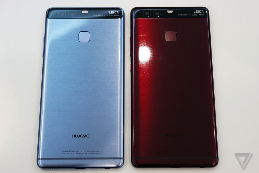 huawei p9 in red and blue   the verge