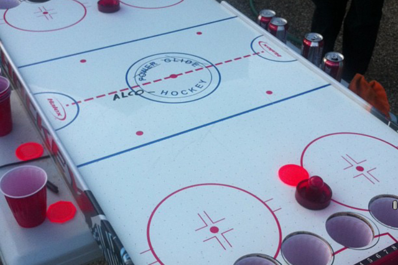 Hockey beer pong table - Hockey Beer Pong Table 5