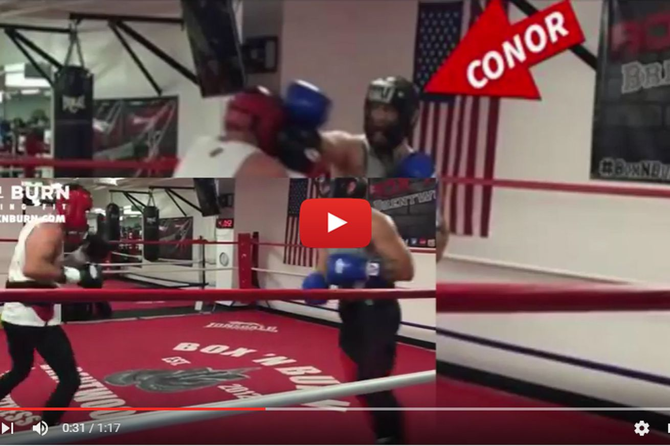 community news, Video: UFCs Conor McGregor spars with former world boxing champ, hailed as amazing