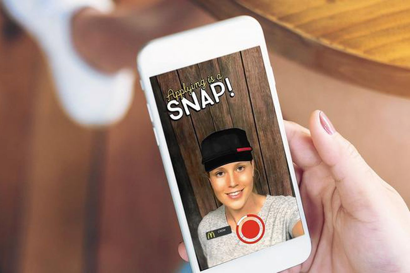 the mcdonald s snaplications campaign is recruiting teens through mcdonald s is working snapchat on a new job application program called snaplications which lets people participate in a brand activation while
