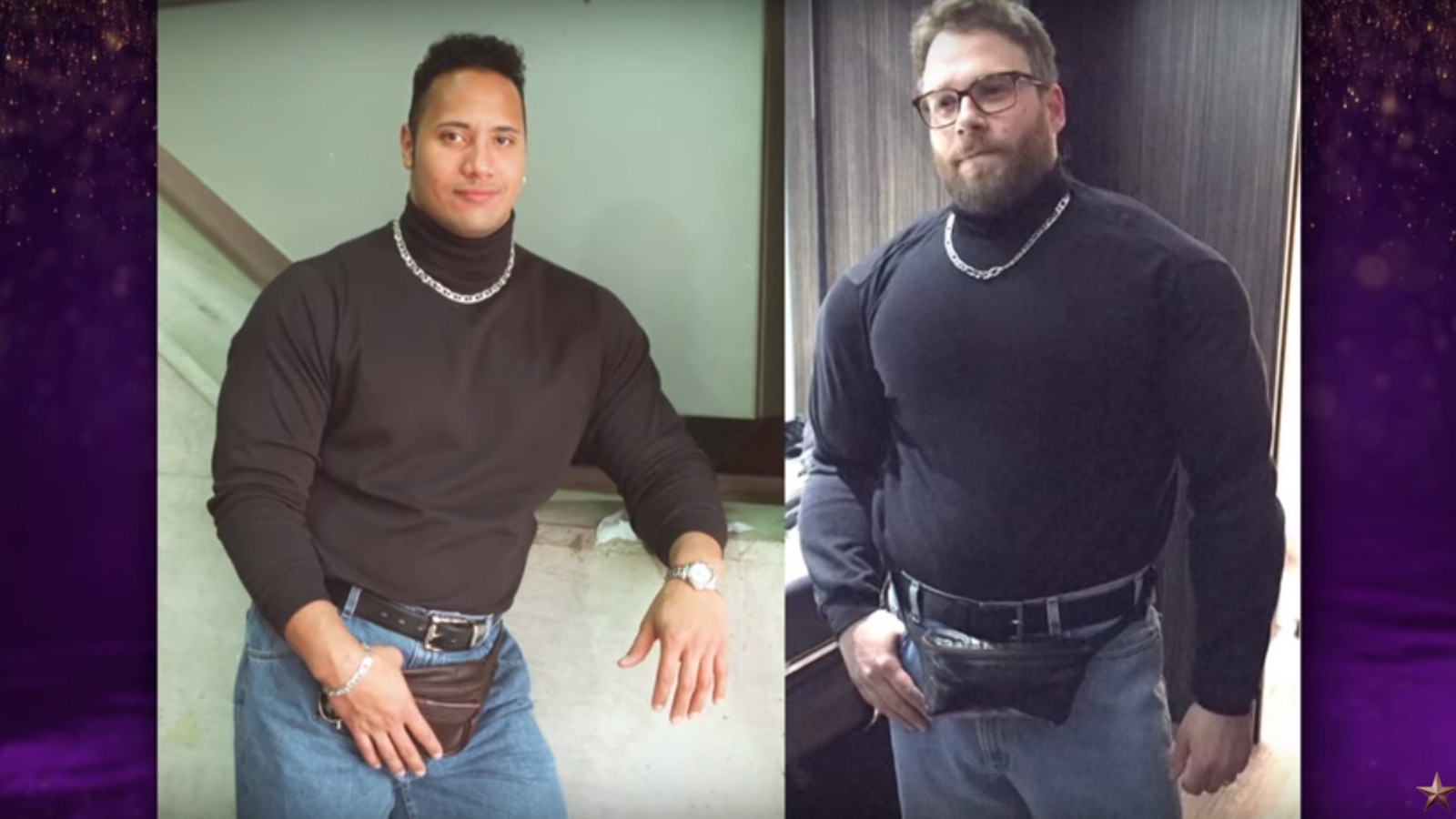 Jeff Goldblum And Seth Rogen Recreated The Rock S Famous