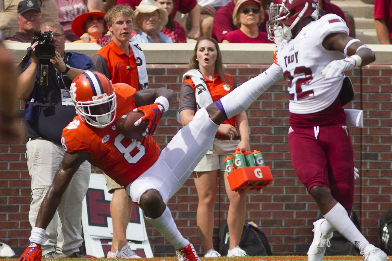 No. 5 Clemson routs SC State 59-0 in shortened game