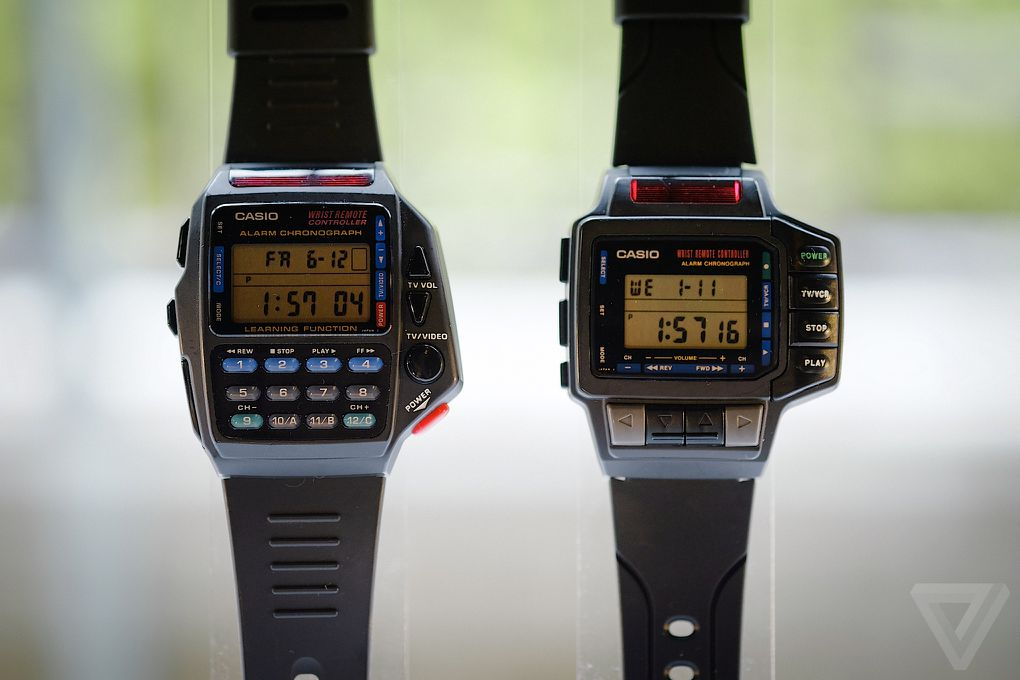 The original smartwatches casio 39 s history of wild wrist designs the verge for Thermo scanner watch