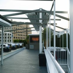 Decades' rooftop features a retractable awning.