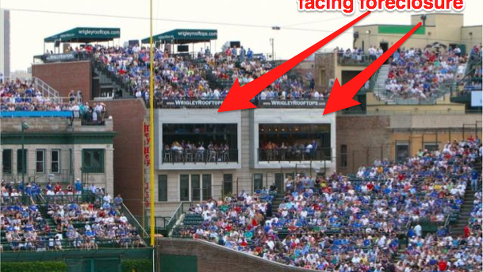 Wrigley Field Rooftop Owners Owe 36m Facing Foreclosure