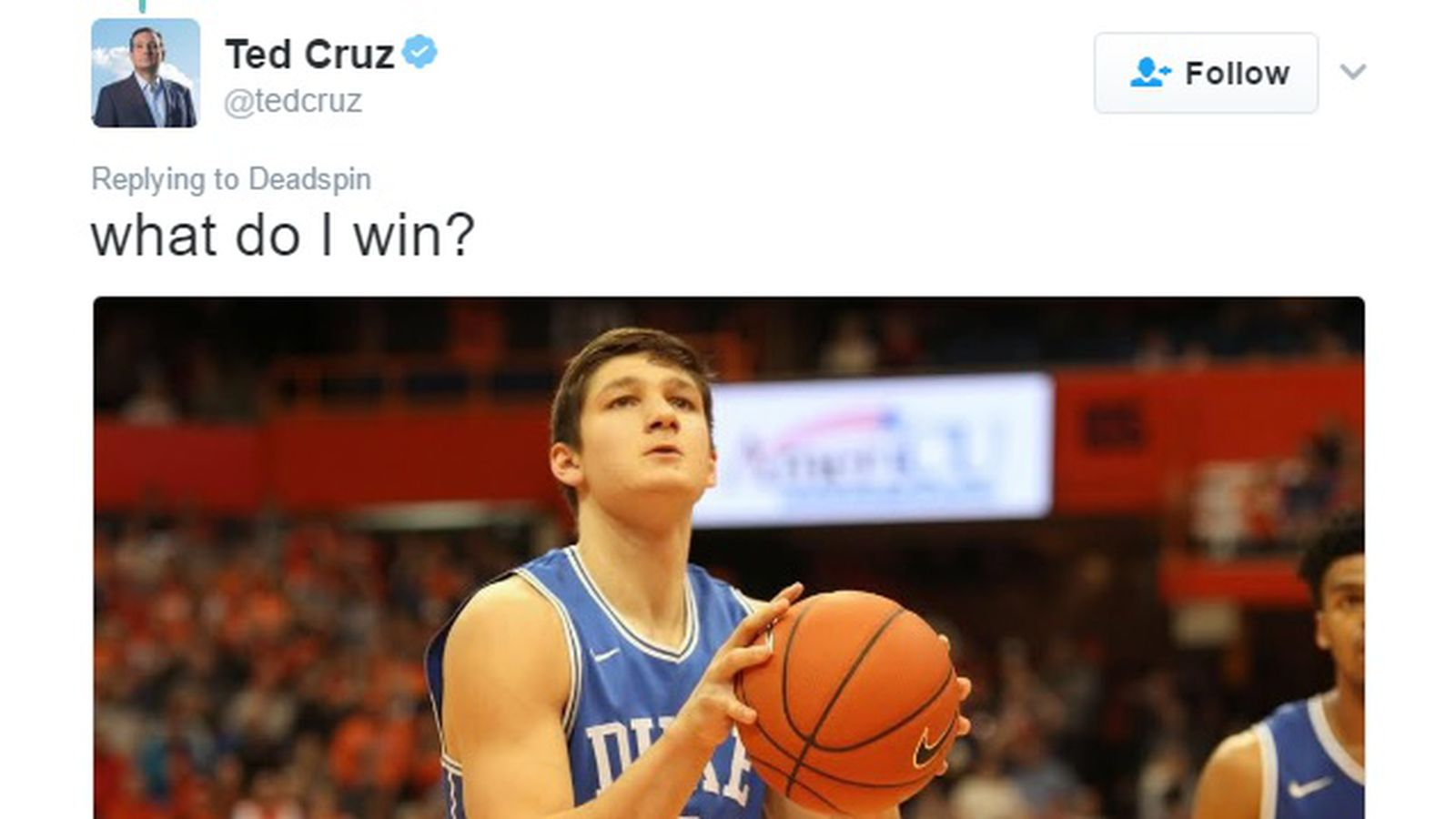 Ted Cruz makes the ultimate 'Grayson Allen looks like Ted ...