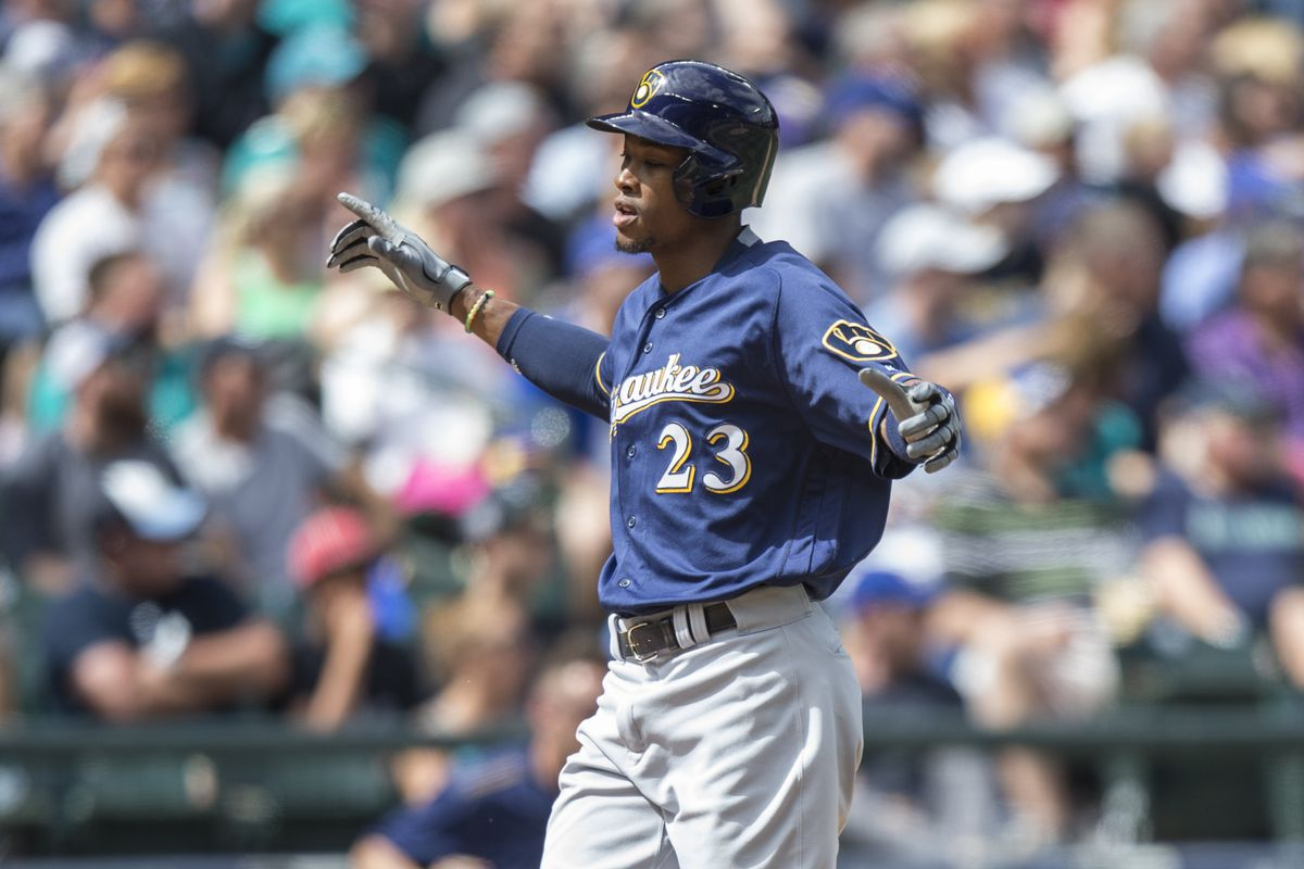 Image result for keon broxton brewers