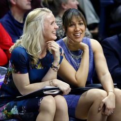 UConn assistant coaches Shea Ralph and Marisa Moseley are all smiles.