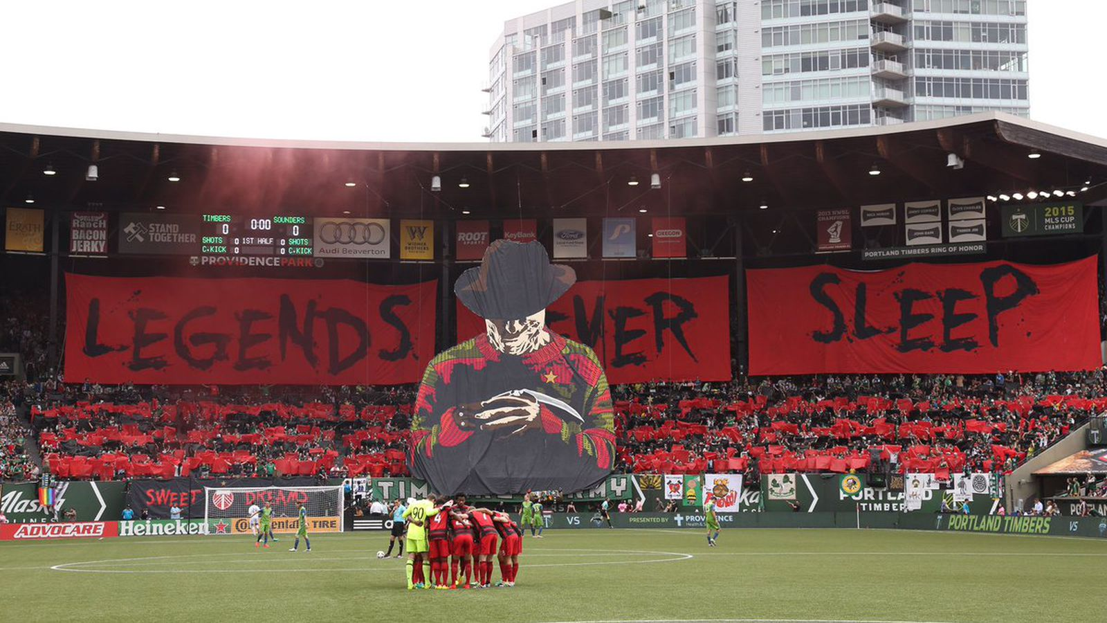 The Portland Timbers' Freddy Krueger tifo will haunt your ...