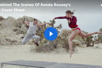 Video: Go behind the scenes of Ronda Rouseys sandy Self magazine photo shoot