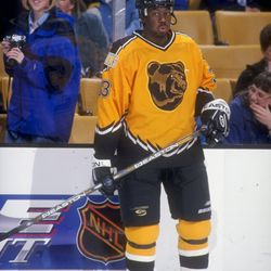 Anson Carter, wearing the uniform everyone has an opinion on.
