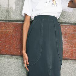"""Ida Klamborn <a href=""""https://tictail.com/s/idaklamborn/thigh-skirt-black"""">Thigh Skirt</a>, $306"""