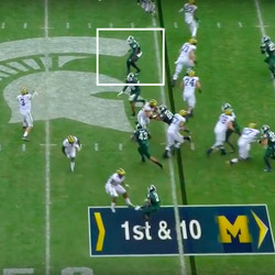 But Michigan State was wise to this game too.