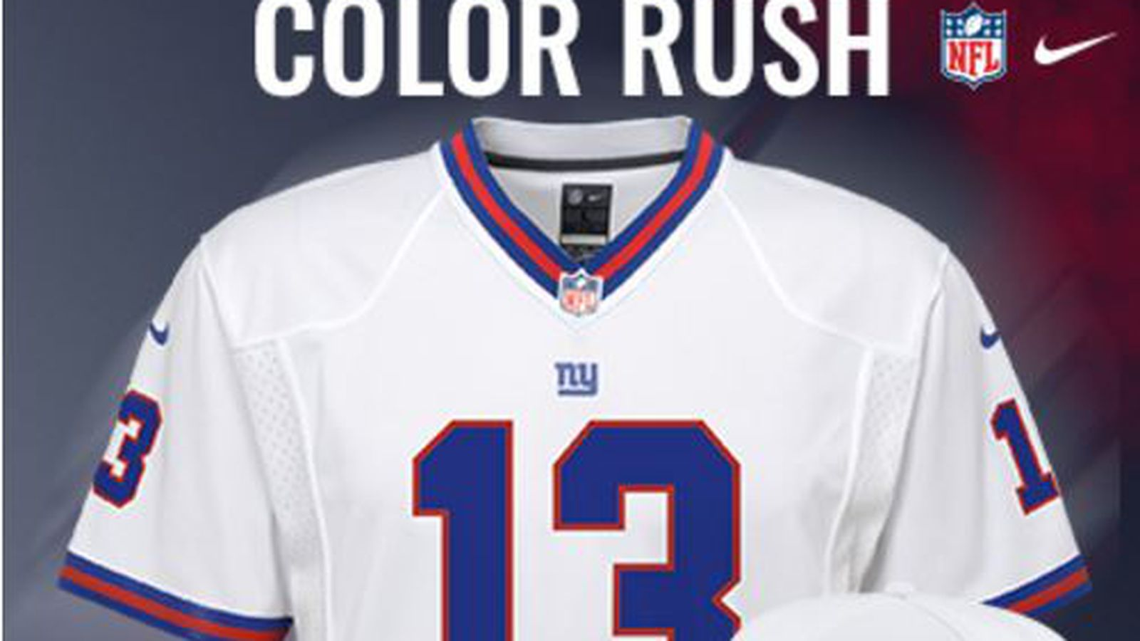 NFL Jersey's Women's New York Giants Odell Beckham Jr Nike White Color Rush Limited Jersey
