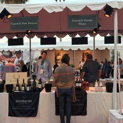 Wine booths at LA Food & Wine