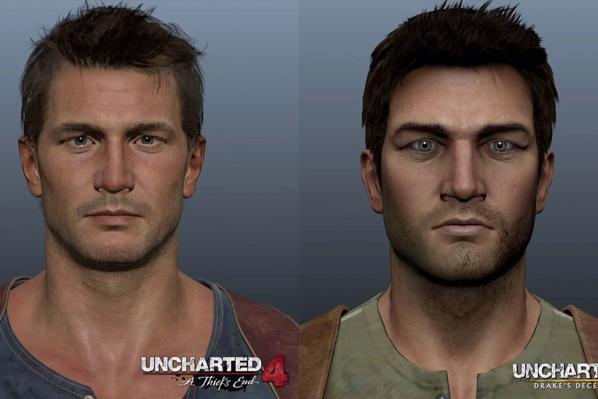 see just how different nathan drake looks in uncharted 4. Black Bedroom Furniture Sets. Home Design Ideas