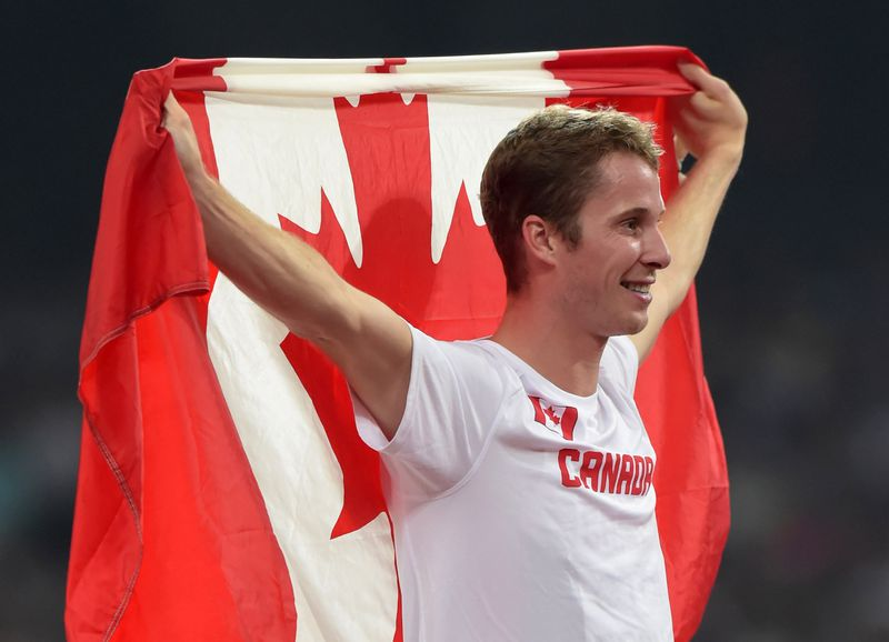 Drouin at the IAAF World Championships. | Kirby Lee-USA TODAY Sports
