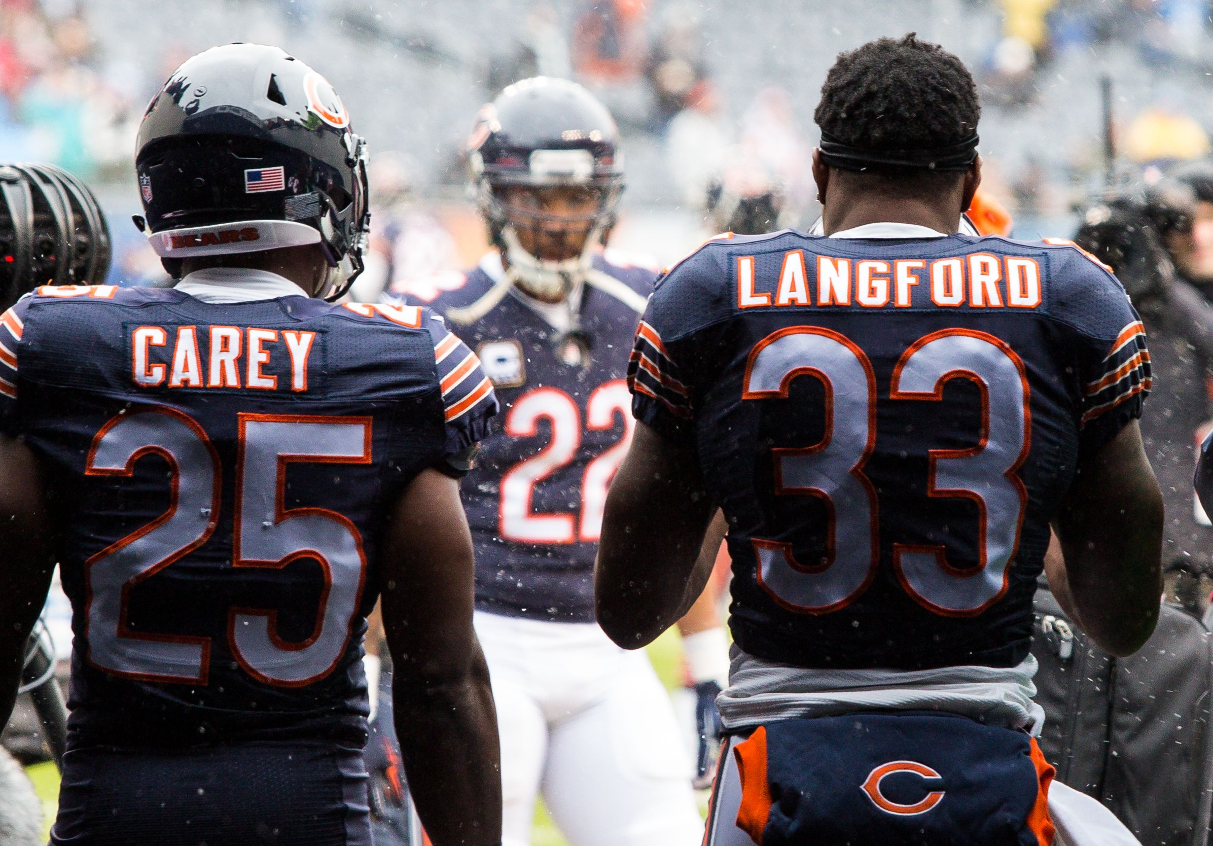 Chicago Bears Ka'Deem Carey GAME Jerseys