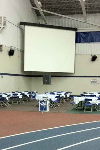 The old Kentucky football recruiting room corner.