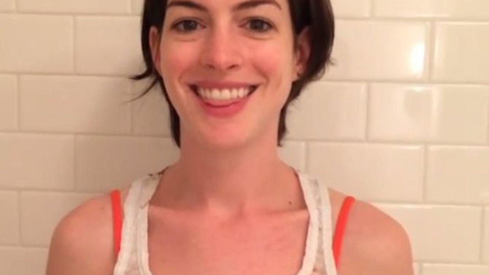 Anne Hathaway's First ... Anne Hathaway Instagram