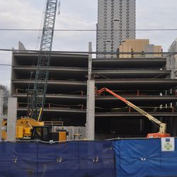 Work on the parking deck.
