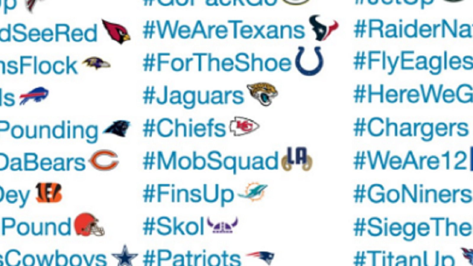 Ranking All 32 NFL Teams New Twitter Hashtags And Emojis