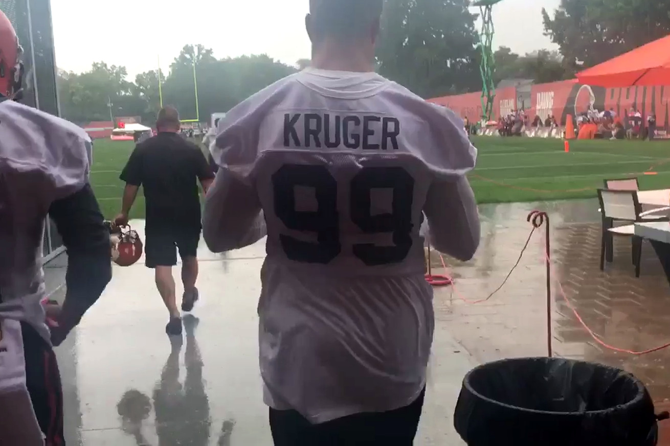Cleveland Browns Training Camp Report: Day 1 - Rain & DE for Ogbah ...