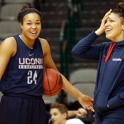 UConn's Napheesa Collier & assistant coach Marisa Moseley<br>