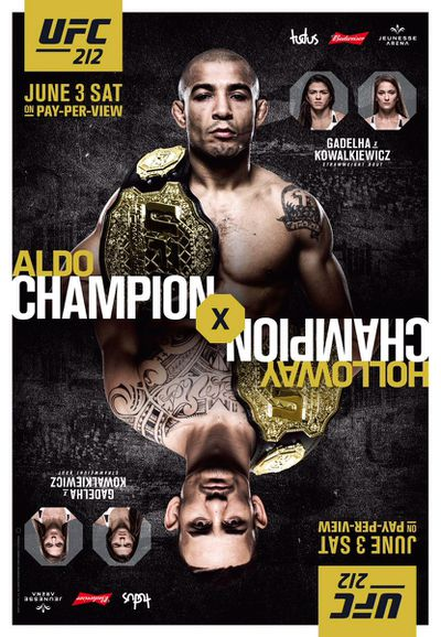 community news, UFC 212 official poster revealed