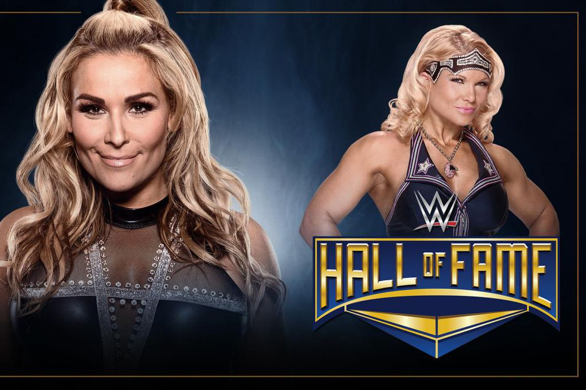 Image result for Natalya inducting Beth phoenix into WWE Hall of Fame