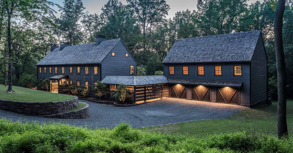 Modern farmhouse on seven bucolic acres asks 3m curbed for Modern farmhouse for sale