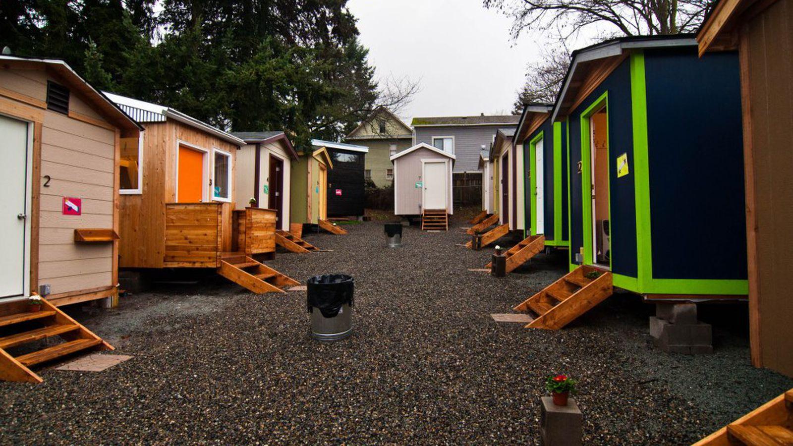Photos Tiny House Seattle Wa: Tiny House Village Celebrates Anniversary