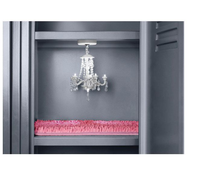 Target Will Bling out Your Locker with Chandeliers Shag Carpet – Magnetic Locker Chandelier