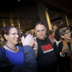 Restaurateur Jose Andres sports a pro-immigrant t-shirt.