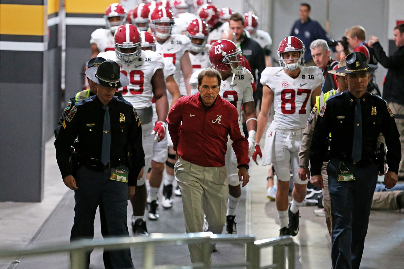 alabama football seasons football games today on tv