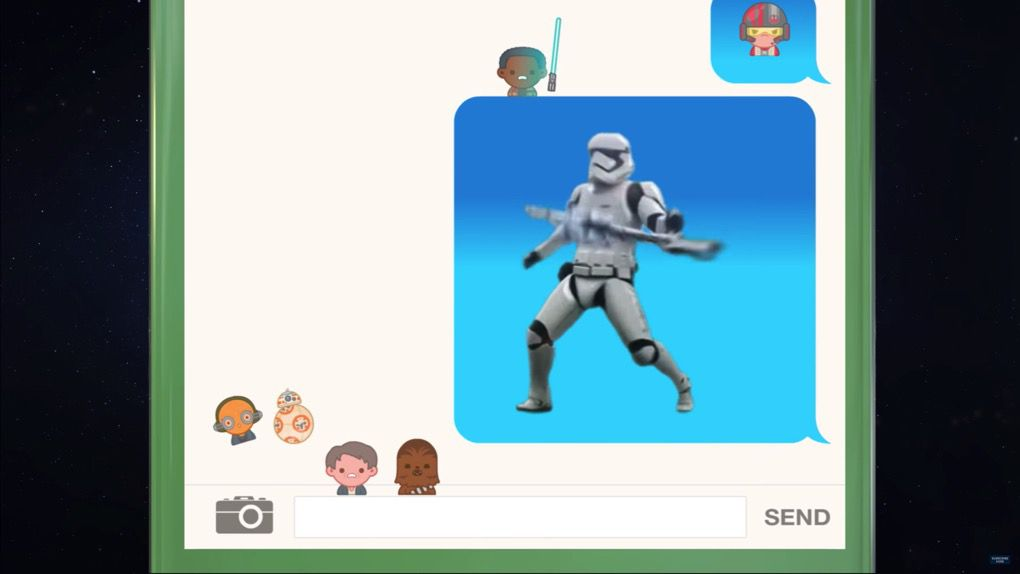 star wars the force awakens told with emoji is adorable