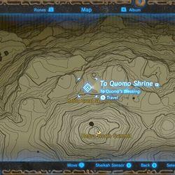 Zelda Breath Of The Wild Guide To Quomo Shrine Location