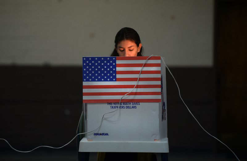 A voter in Los Angeles County in 2012