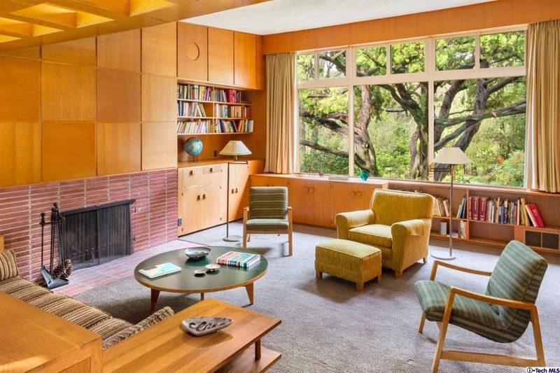 1949 home once belonging to disney animator in la caada flintridge california - Mid Century Living Rooms