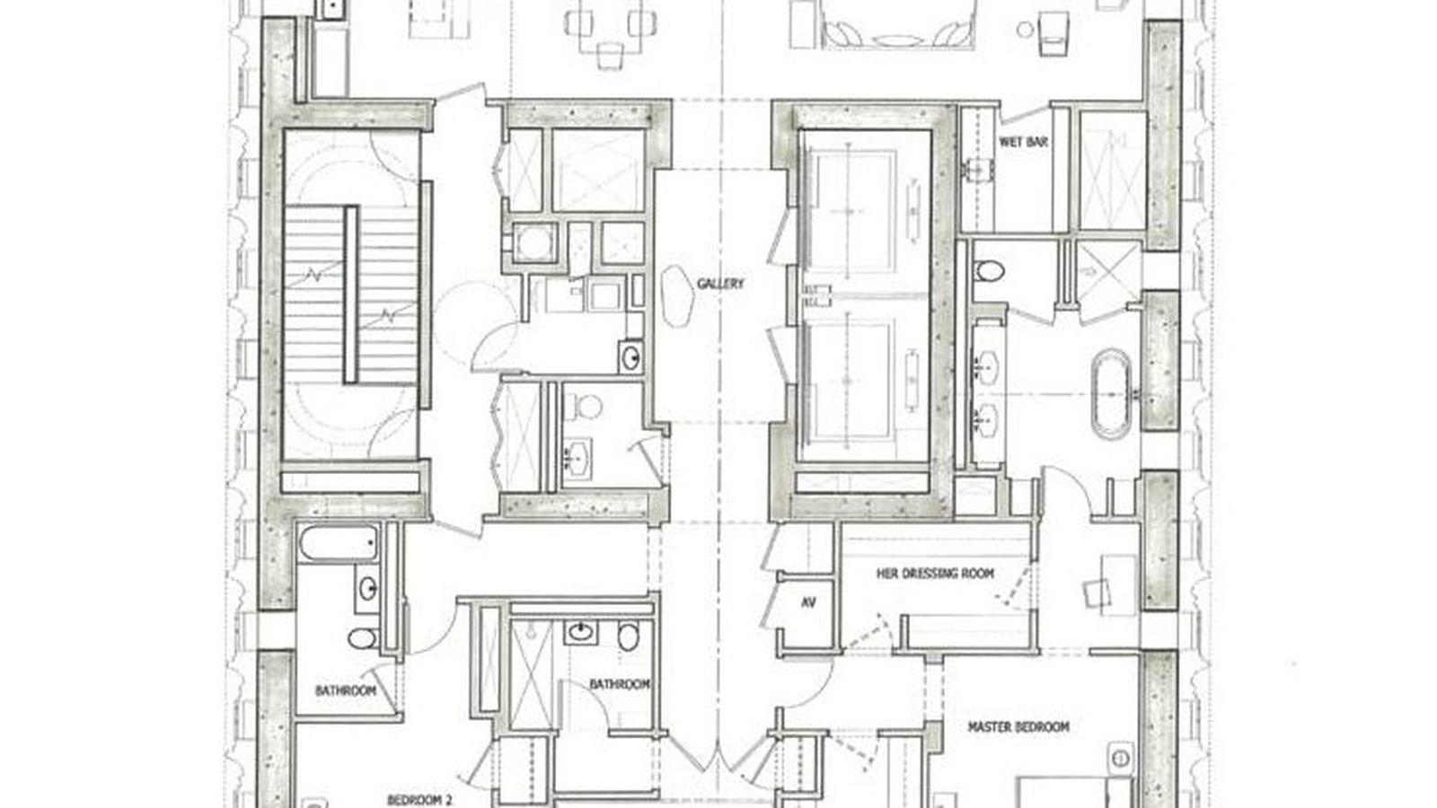First floorplan for the 39 world 39 s skinniest skyscraper for Floorplan or floor plan