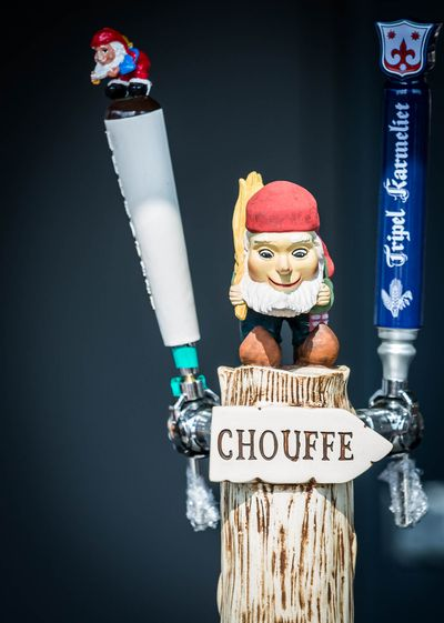 A chouffe beer tap
