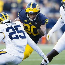 It's been a rocky road for Drake Johnson, but the Pioneer star has taken it as well as any blue-twisted steel person could. Drake has 641 yards in his Michigan career, an average of 5.5.