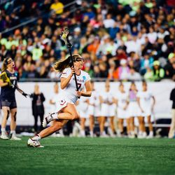 Kaileen Hart runs toward the goal