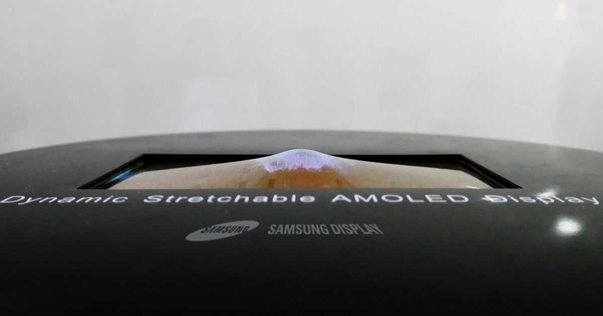Watch Samsung's 9.1-inch OLED display stretch without breaking