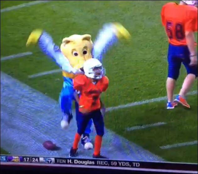 Denver Nuggets Sb Nation: Nuggets Mascot Obliterates Youth Football Player, Then