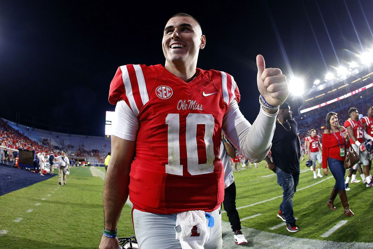 Ole Miss quarterback Chad Kelly is 'Mr. Irrelevant' for 2017