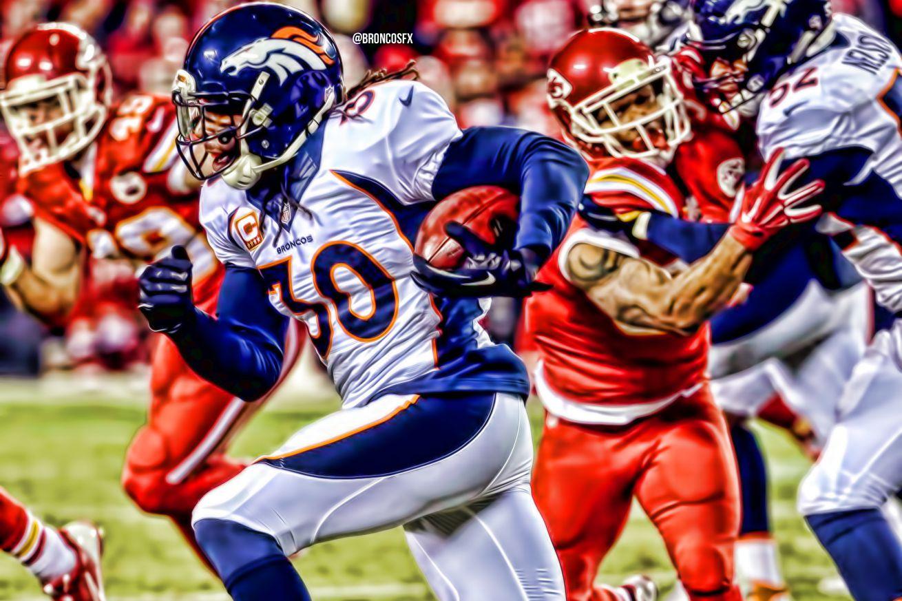 Youth Denver Broncos David Bruton Pro Line Team Color Jersey
