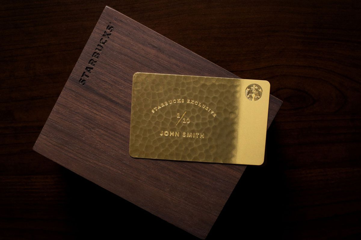 Starbucks 'Exclusive' $5,000 Giftcard Is Made from 10 ...