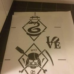 The finished stencil