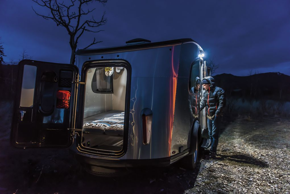 take to the great outdoors with this adorable airstream camper the verge. Black Bedroom Furniture Sets. Home Design Ideas